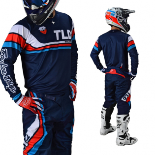 Troy Lee Designs SE Seca Dark Navy Orange Kit Combo Image 3