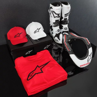 Alpinestars Corp Snap Cap Red White Image 3