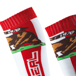 ONeal Pro MX California Red White Brown Boot Socks Image 2