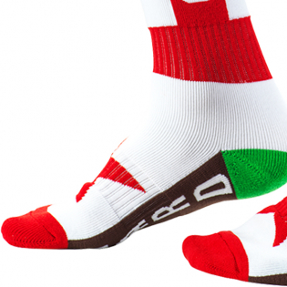 ONeal Pro MX California Red White Brown Boot Socks Image 4
