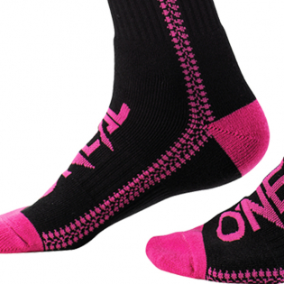 ONeal Pro MX Zipper Pink Boot Socks Image 4