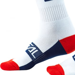 ONeal Pro MX Moto Life White Red Blue Boot Socks Image 4