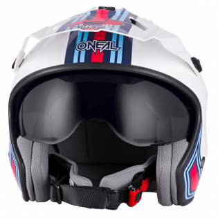 ONeal Volt MN1 White Red Blue Trials Helmet Image 2