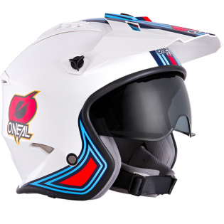 ONeal Volt MN1 White Red Blue Trials Helmet Image 4