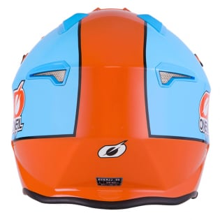 ONeal Volt Gulf Orange Blue Trials Helmet Image 2