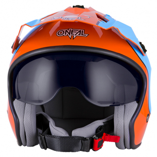 ONeal Volt Gulf Orange Blue Trials Helmet Image 3
