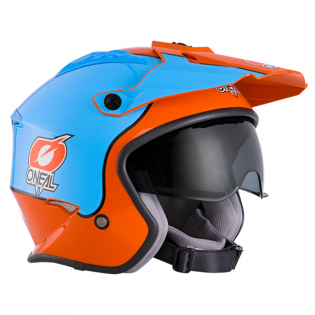 ONeal Volt Gulf Orange Blue Trials Helmet Image 4