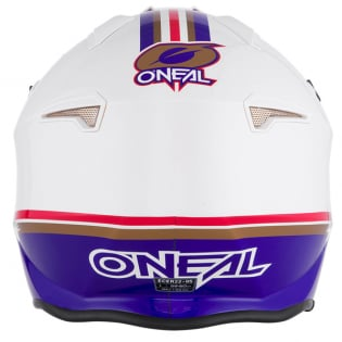 ONeal Volt Rothmans White Purple Red Trials Helmet Image 2