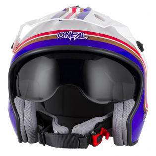 ONeal Volt Rothmans White Purple Red Trials Helmet Image 3