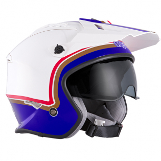 ONeal Volt Rothmans White Purple Red Trials Helmet Image 4