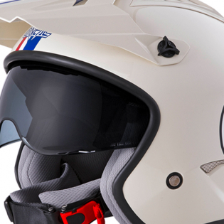 ONeal Volt Herbie White Red Blue Trials Helmet Image 2