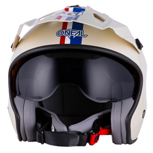 ONeal Volt Herbie White Red Blue Trials Helmet Image 4