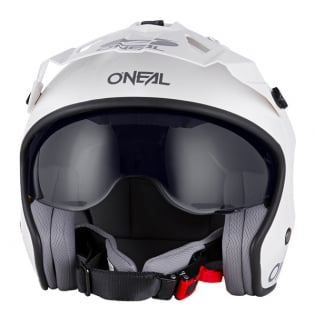 ONeal Volt Solid White Trials Helmet Image 3