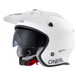 ONeal Volt Solid White Trials Helmet Image 4