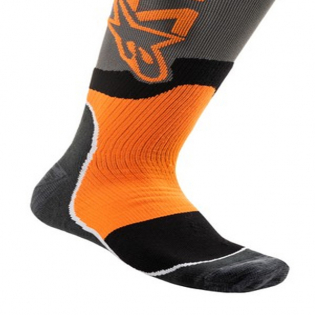 Alpinestars Plus-2 Kids Cool Grey Orange Fluo MX Socks Image 4