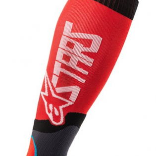 Alpinestars Plus-2 Kids Red White MX Socks Image 3