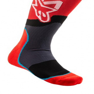 Alpinestars Plus-2 Kids Red White MX Socks Image 4