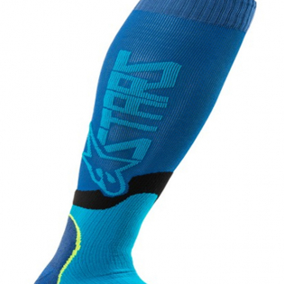 Alpinestars Plus-2 Kids Blue Cyan MX Socks Image 3