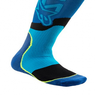 Alpinestars Plus-2 Kids Blue Cyan MX Socks Image 4