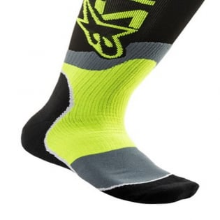 Alpinestars Plus-2 Kids Black Yellow Fluo MX Socks Image 4