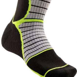 Alpinestars Pro Cool Grey Yellow Flou MX Socks Image 4