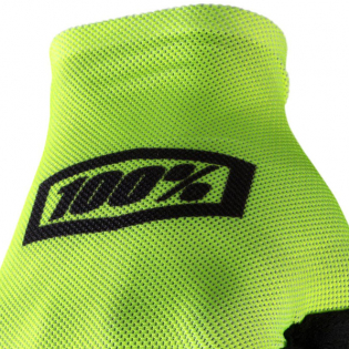 100% Celium Fluo Yellow Black Gloves Image 2