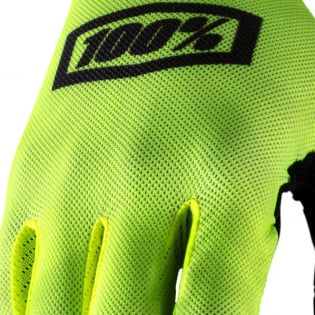 100% Celium Fluo Yellow Black Gloves Image 3