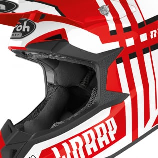 Airoh Wraap Broken Red Gloss Helmet Image 2