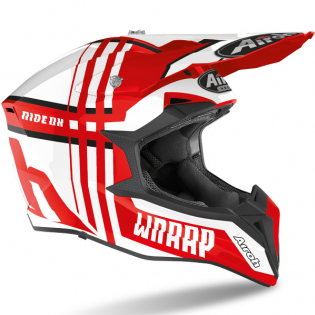 Airoh Wraap Broken Red Gloss Helmet Image 3