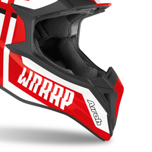 Airoh Wraap Broken Red Gloss Helmet Image 4