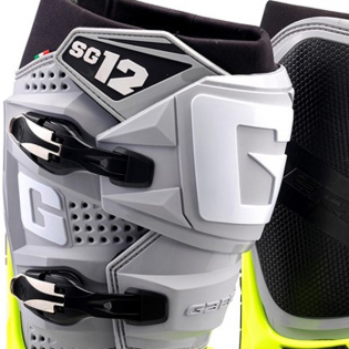 Gaerne SG12 Grey Yellow Black Motocross Boots Image 2