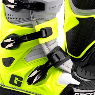 Gaerne SG12 Grey Yellow Black Motocross Boots Image 3