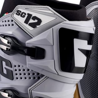 Gaerne SG12 Grey Magnesium White Motocross Boots Image 2