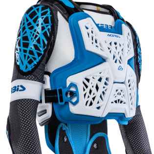 Acerbis Galaxy White Blue Body Armour Image 3