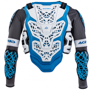 Acerbis Galaxy White Blue Body Armour Image 4
