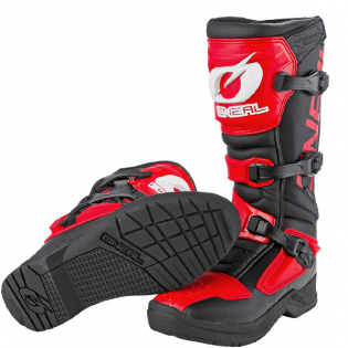 ONeal RSX Black Red Motocross Boots Image 3