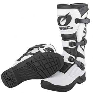 ONeal RSX White Black Motocross Boots Image 3