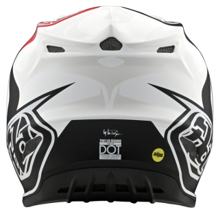 Troy Lee Designs SE4 Skully White Black Composite Helmet Image 3