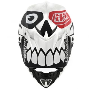 Troy Lee Designs SE4 Skully White Black Composite Helmet Image 4