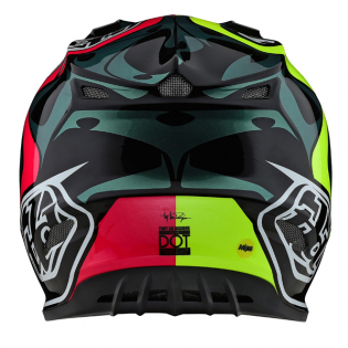 Troy Lee Designs SE4 Skully Pink Flo Yellow Composite Helmet Image 3