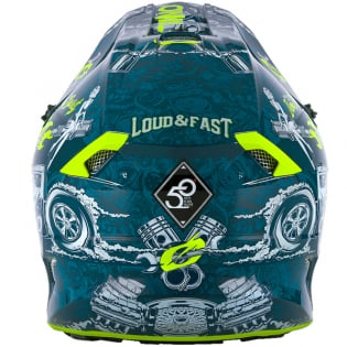 ONeal 5 Series Polycrylite HR Blue Neon Yellow Helmet Image 2