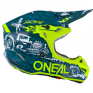 ONeal 5 Series Polycrylite HR Blue Neon Yellow Helmet
