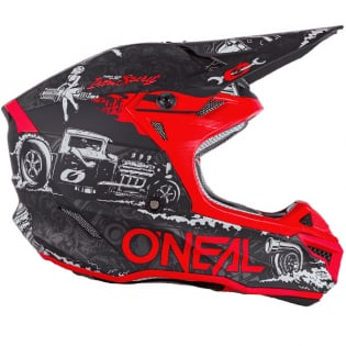 ONeal 5 Series Polycrylite HR Black Red Helmet Image 4