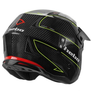 Hebo Zone 4 Carbon ll Fibre Black Trials Helmet Image 3