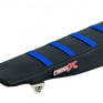 CrossX Stripe Yamaha Black Black Blue Ribbed Seat Cover