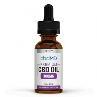 CbdMD CBD Oil Tincture 30ml Drops Berry Flavour 300mg Image 3