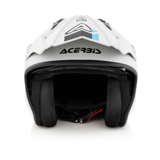 Acerbis Jet Aria Grey Black Trials Helmet Image 2