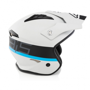 Acerbis Jet Aria Grey Black Trials Helmet Image 3