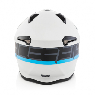 Acerbis Jet Aria Grey Black Trials Helmet Image 4