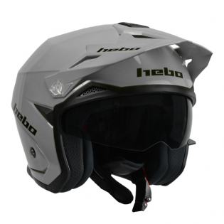 Hebo Zone 5 Mono Grey Trials Helmet Image 2
